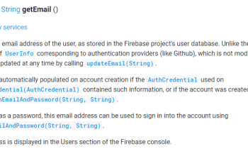 Firebase Authentication的FirebaseUser的getEmail() 返回null ?